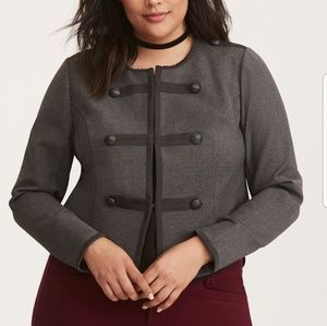 Torrid Charcoal Gray Military Style Jacket